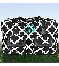 Black Moroccan Geometric Weekender Bag #OTG737-BLACK