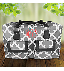 Gray Moroccan Geometric Weekender Bag #OTG737-GRAY