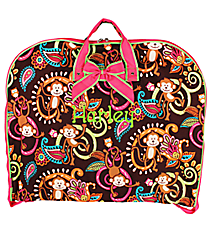 Monkey Island Garment Bag with Hot Pink Trim #MON561-H/PINK