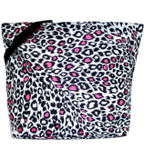 Market Shopping Tote in Pink Leopard #P18-803