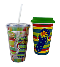 Sandy Days Hot & Cold To Go Drinkware Set #P4211978