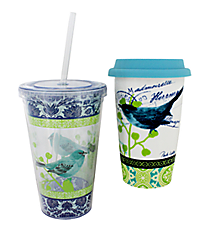 Bird Collage Hot & Cold To Go Drinkware Set #P4213590