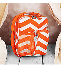 "9"" Orange and White Chevron Day Pack #P6009-165-OR/W"