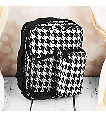 "9"" Houndstooth with Black Trim Day Pack #P6009-606-B/W"
