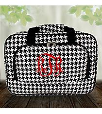 "13"" Houndstooth with Black Trim Duffle Bag #P8013-606-B/W"