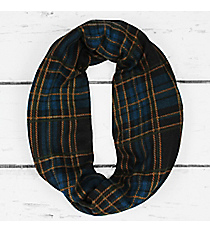Winter Nights Plaid Infinity Scarf, Blue and Black #PCH-5037-02