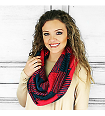 In a Holidaze Infinity Scarf, Teal and Rose #PCY-5084-03