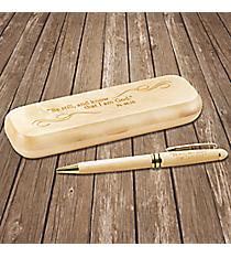 Psalm 46:10 Maple Pen in Gift Box #PEN227