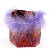 Purple and Orange Peacock Magnetic Locker Pencil Cup #21374