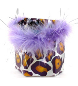 Purple and Yellow Leopard Magnetic Locker Pencil Cup #21375