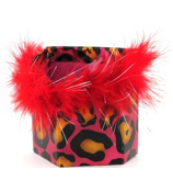 Pink and Yellow Leopard Magnetic Locker Pencil Cup #21376