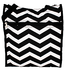 Black and White Chevron Shopper Tote #TH3013-165-B/W