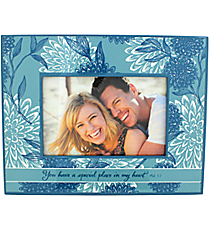 Philippians 1:7 Floral Print Wooden 6x4 Photo Frame #WPF008