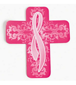 One Dozen Pink Ribbon Cross Car Magnets #36/2503