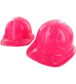1 Dozen Pink Construction Hats #15/417