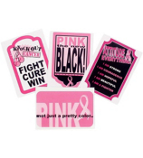 1 Dozen Pink Ribbon Bottle Labels #9/1230