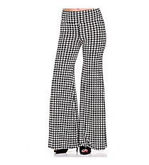 PLUS SIZE Houndstooth Palazzo Pants #25A-PL1072X-2 *Choose Your Size