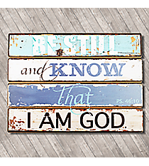 """Be Still"" Psalm 46:10 Wooden Wall Plaque #PLA015"