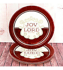 Pack of 8 'Joy To The Lord' Large Paper Plates #PLP004