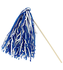 1 Royal Blue and White Spirit Pom Pom #13607204