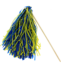 1 Royal Blue and Gold Spirit Pom Pom #13607199