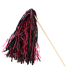 1 Dark Red and Black Spirit Pom Pom #13607206