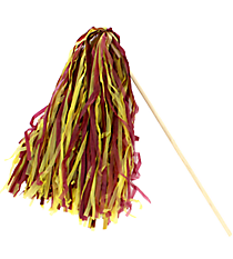 24 Maroon and Gold Spirit Pom Poms #13607203