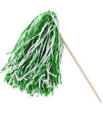 1 Green and White Spirit Pom Pom #13607200