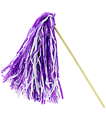 1 Purple and White Spirit Pom Pom #13607202