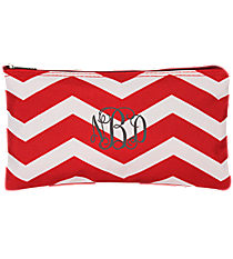 "Red and White Chevron 10"" Pouch #909-165-R"