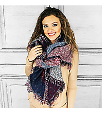 Americana Blanket Scarf, Red #PSH-5006-03