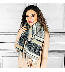 Winter Dreams Scarf, Black #PSY-5043-01