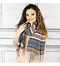Winter Dreams Scarf, Burgundy #PSY-5043-03