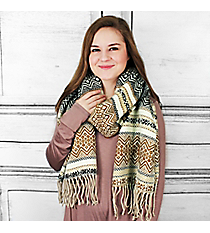 Winter Dreams Scarf, Brown #PSY-5043-04
