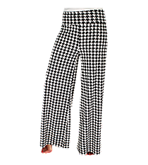 Houndstooth Palazzo Pants #PT-H *Choose Your Size