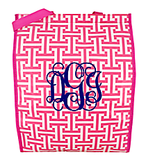 Pink and White Puzzled Fresh Market Tote #PU-FM-037755