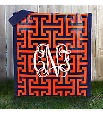 Navy and Orange Puzzled Goody Bag #PU-GO-000226