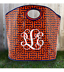 Navy and Orange Puzzled Large Grab Bag #PU-GR-000196