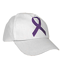One Dozen Purple Ribbon Baseball Caps #15/661