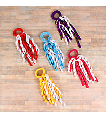 One Two-Color Curled Ribbon Ponytail Holder #QHC2685A-SHIPS ASSORTED