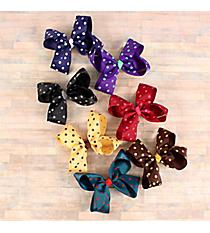 One Fall Colors Polka Dot Hair Clippy #QHC2733D-SHIPS ASSORTED