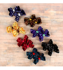 One Set of 2 Fall Colors Polka Dot Hair Clippies #QHC2733D-SHIPS ASSORTED