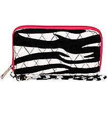 Zebra Quilted Clutch Wallet #ZBRB497-HPINK