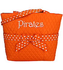 Orange and White Quilted Diaper Bag #TW2121-OR/WH