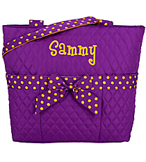 Purple and Yellow Quilted Diaper Bag #TW2121-PUR/YEL