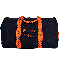 """21"""" Navy and Orange Quilted Duffle Bag #TW2626-NAV/OR"""