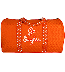 """21"""" Orange and White Quilted Duffle Bag #TW2626-OR/WH"""
