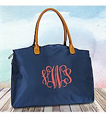 Navy Blue Weekender Bag #R803-NAVY