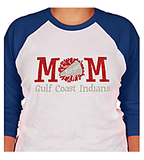 """Cheer Mom"" 3/4 Sleeve Raglan Tee CD09 *Customizable!"