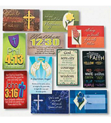 One Package of 144 Plastic Faith Wallet Cards #36/2394